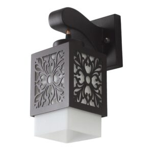 Buy Contemporary Glass Metal Wood Wall Light WL2076 Online