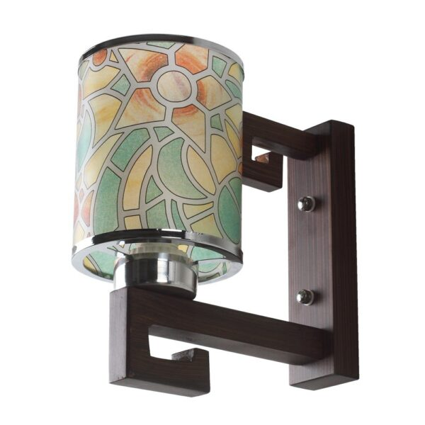 Buy Contemporary Glass Metal Wood Wall Light WL2077 Online